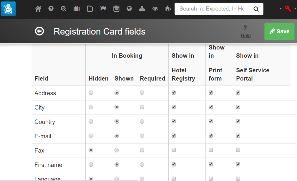 Customisable hotel registration cards and police exports hotel guest registration card fields customization screenshot thecheapjerseys Gallery