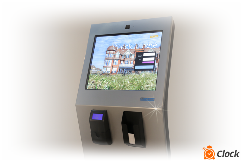 Hotel self-service kiosk by Clock Software
