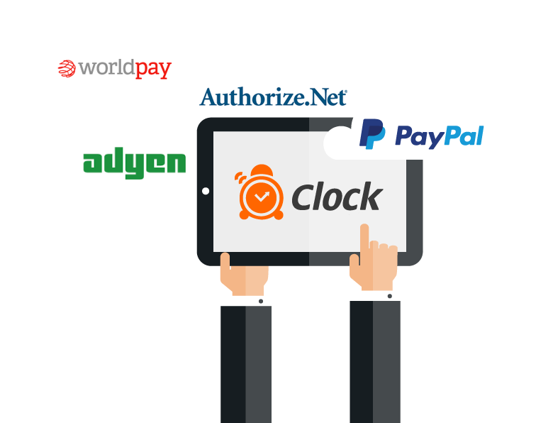 Clock PMS integrated payments - PayPal, WorldPay and etc.