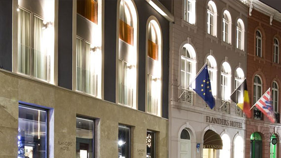 Hotel Flanders in Belgium: city hotel using Clock PMS Suite and Clock POS software